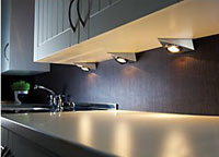 Under cabinet lighting in the kitchen the types available halogen kitchen worktop lighting mozeypictures